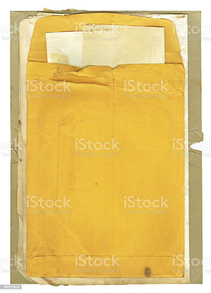 Old Envelope and Papers stock photo