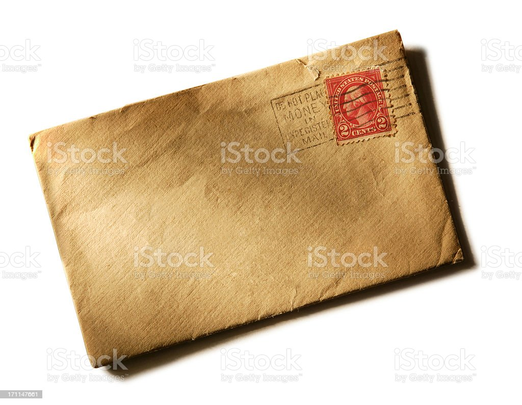Old Envelope from 1920's 2 stock photo
