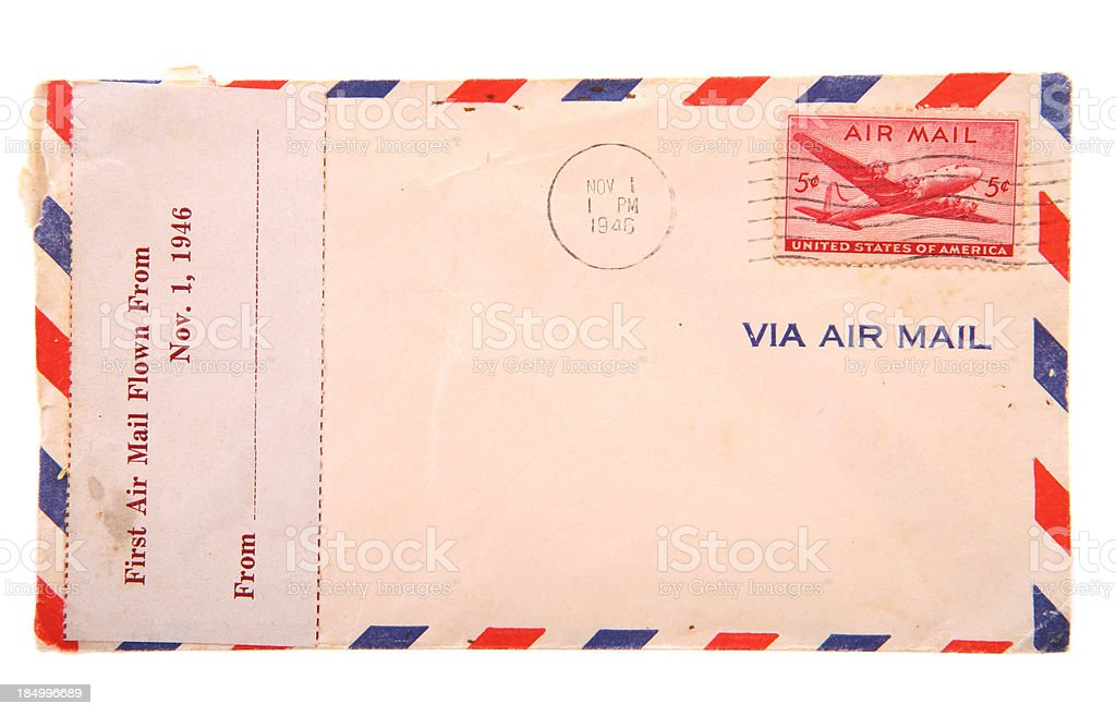 Old Envelope from 1946 royalty-free stock photo