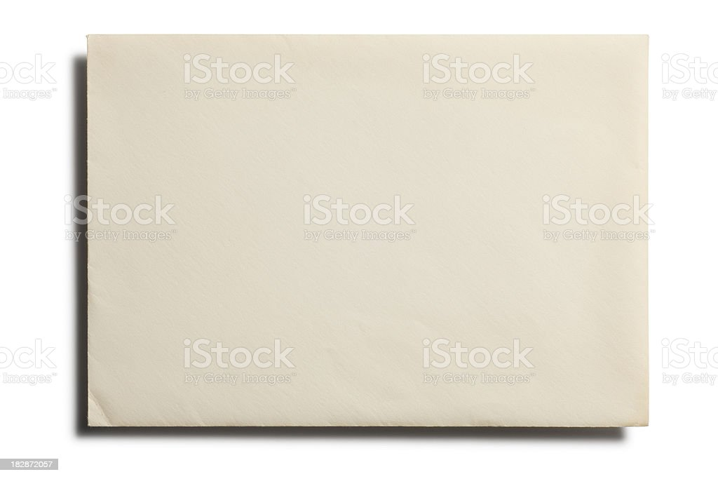 Old Envelope - Front stock photo