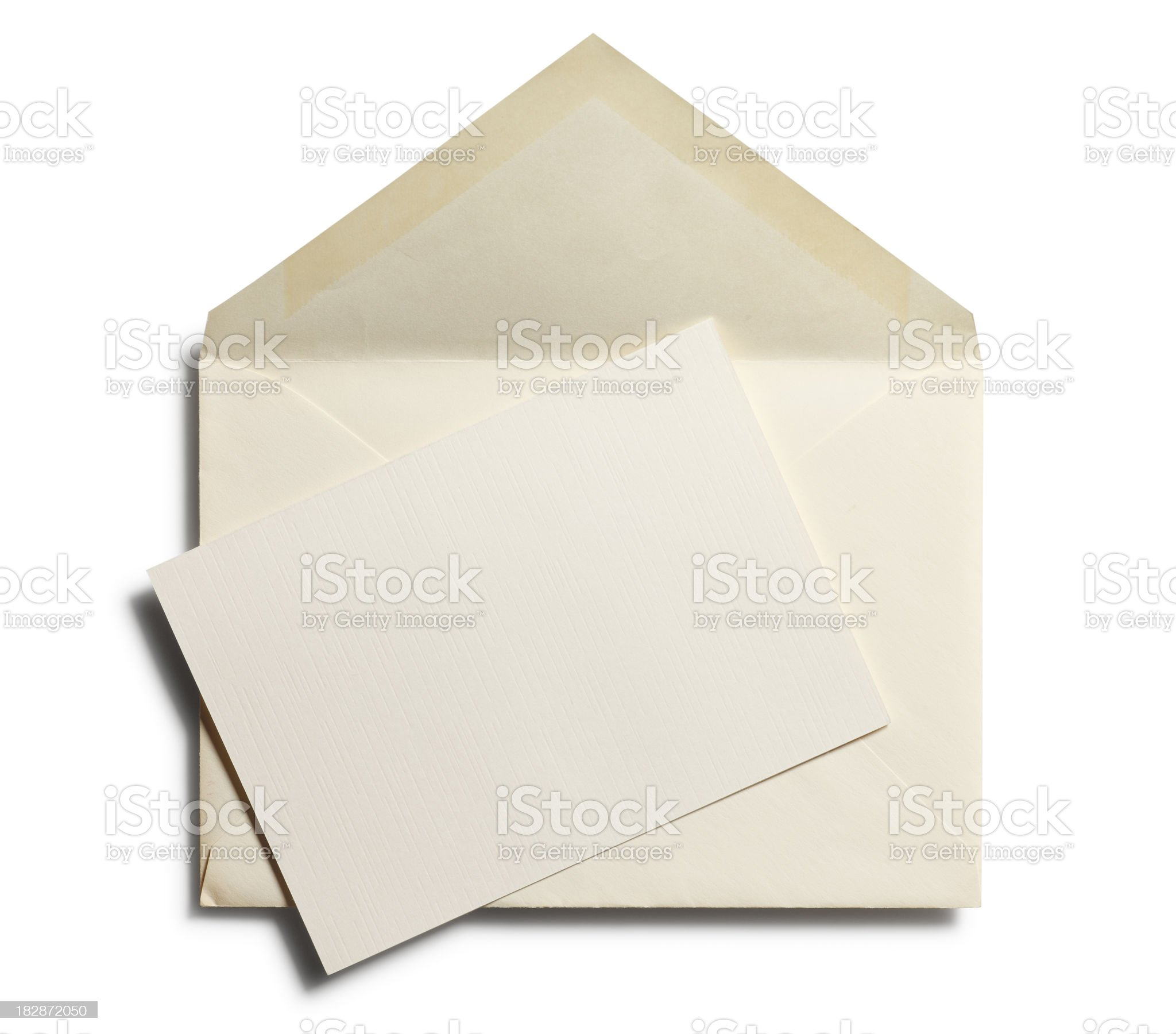 Old Envelope with Blank Note royalty-free stock photo