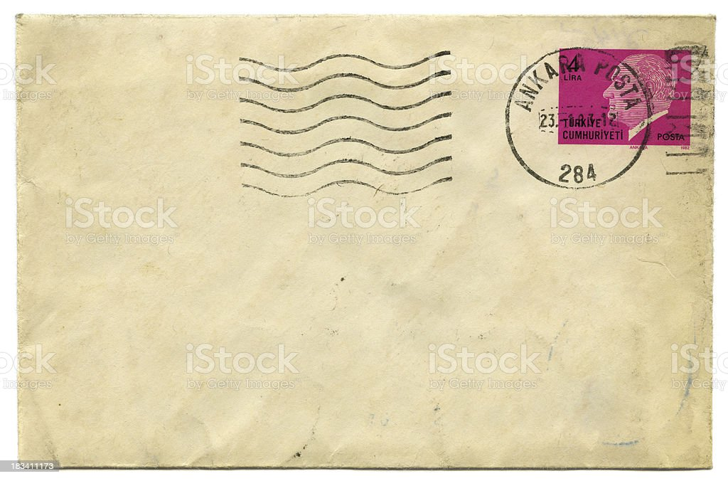 Old Envelope With Postage Stamp stock photo