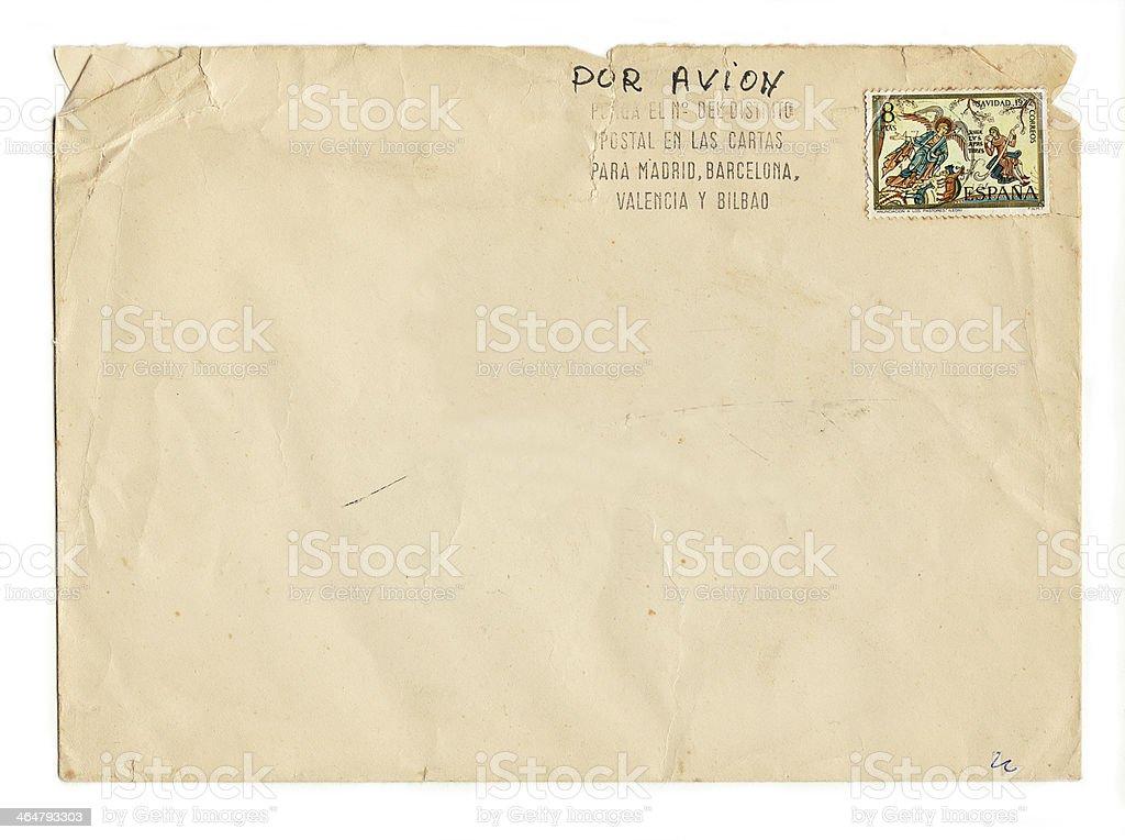 Vecchia busta con il timbro Spagnolo (inclusi clipping path) foto stock royalty-free