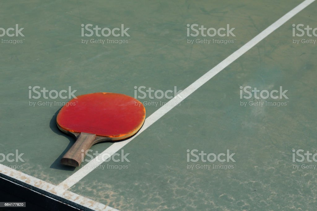 Old Equipment for table tennis stock photo