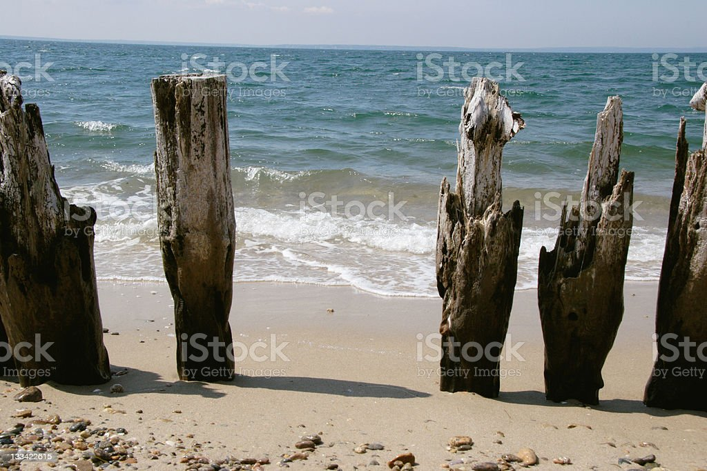 Old erosion Barrier royalty-free stock photo
