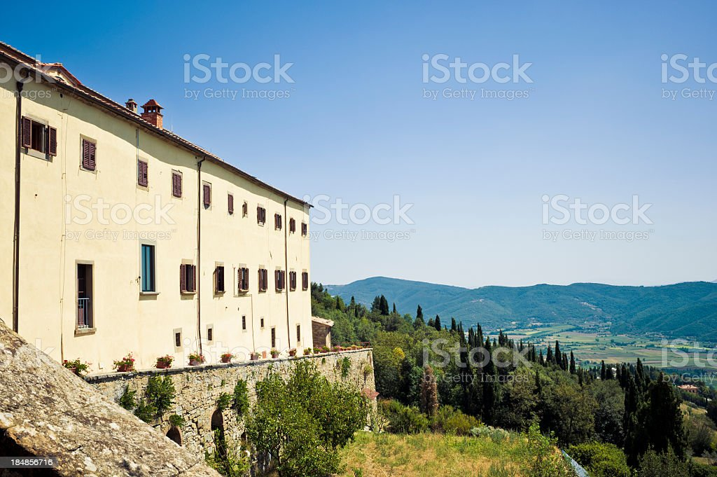 Old Etruscan Monastery In Cortona, Tuscany royalty-free stock photo