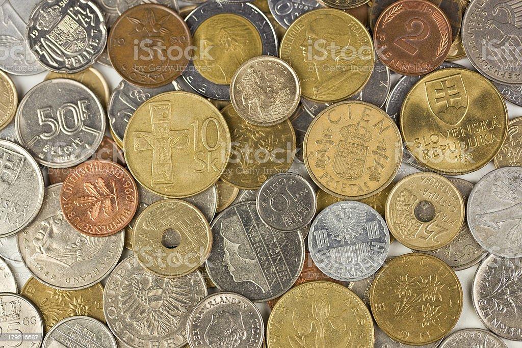 Old european coins royalty-free stock photo