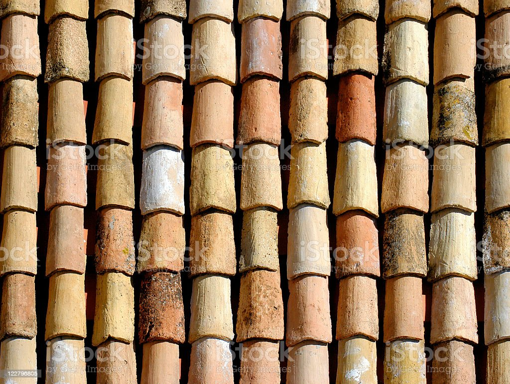 Old European Roof royalty-free stock photo