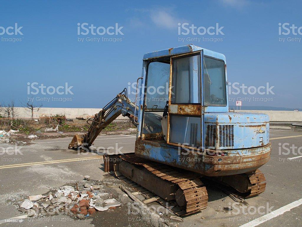 Old excavator. royalty-free stock photo