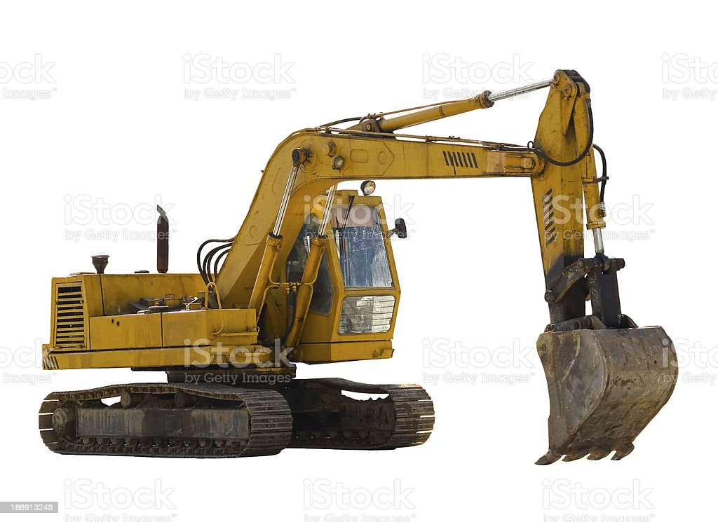 Old excavator royalty-free stock photo