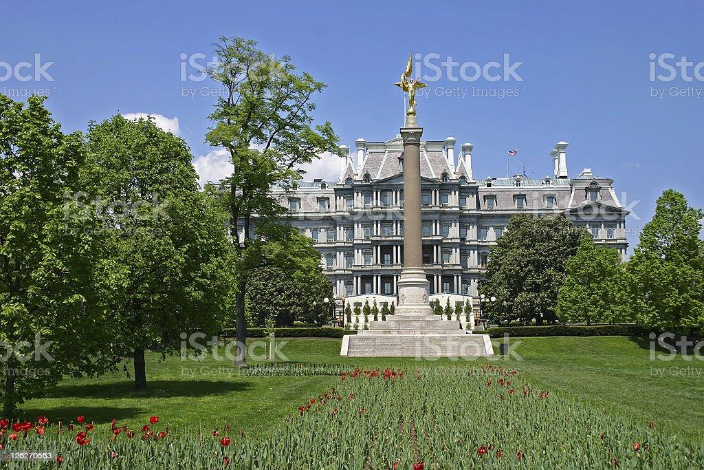 Old Executive Office Building next to White House (Washington DC) stock photo