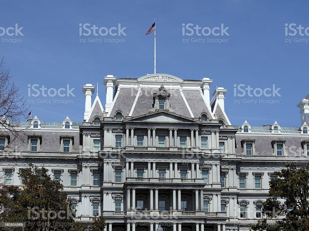Old Executive Office Buildings in Washington DC stock photo