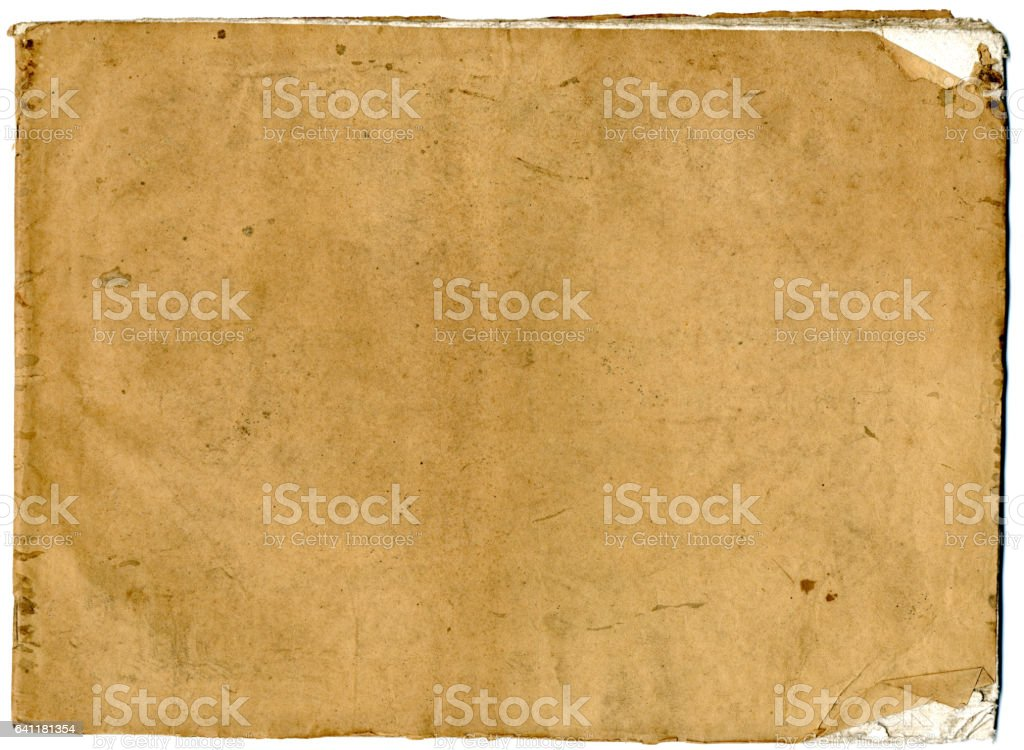 Old exercise book cover stock photo