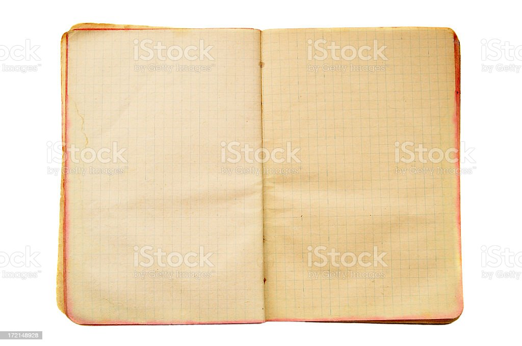 Old exercise book royalty-free stock photo