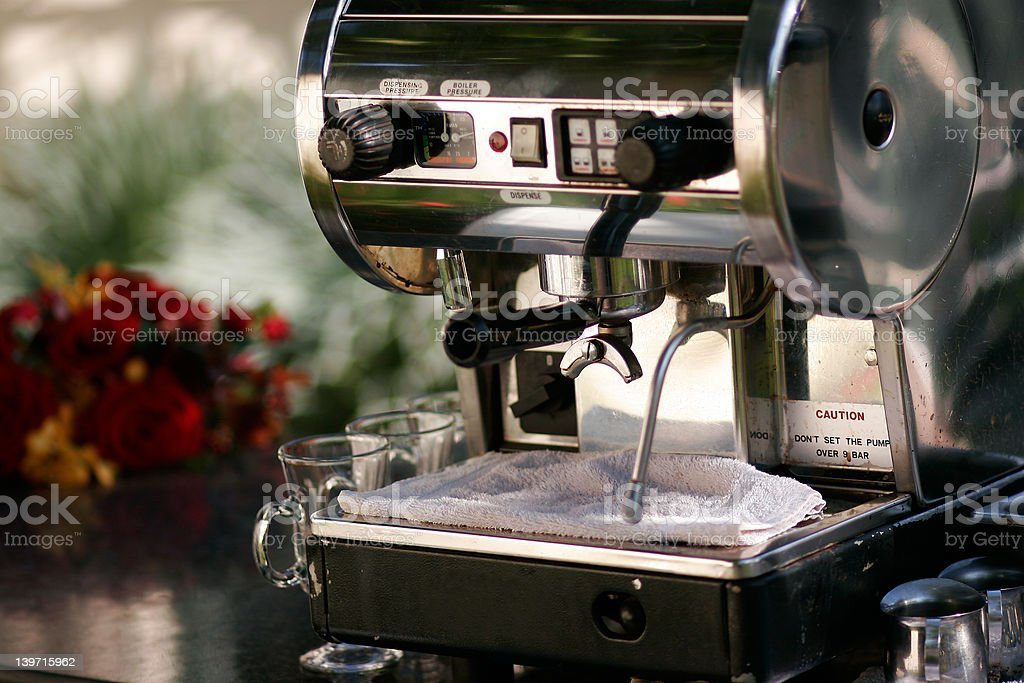 Old Expresso machine royalty-free stock photo