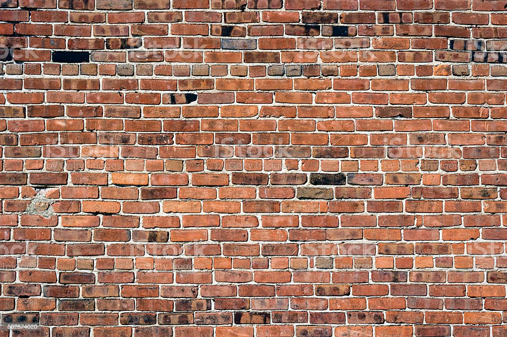 Old Exterior Brick Wall stock photo