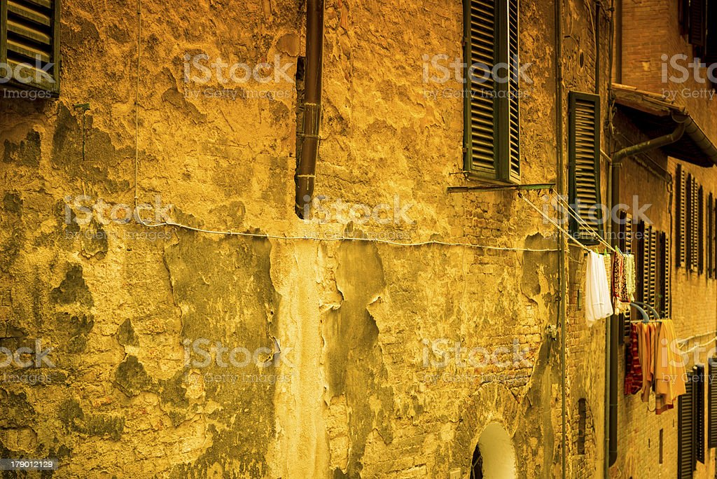 Old fa?ades in Florence, Tuscany royalty-free stock photo