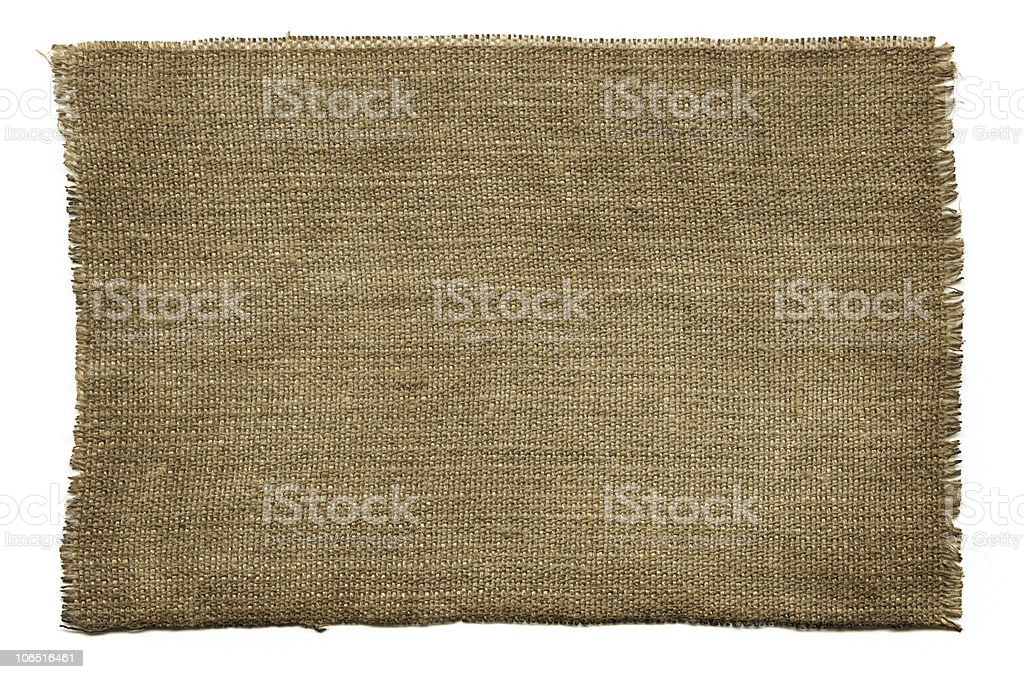 Old fabric with rips on the side stock photo