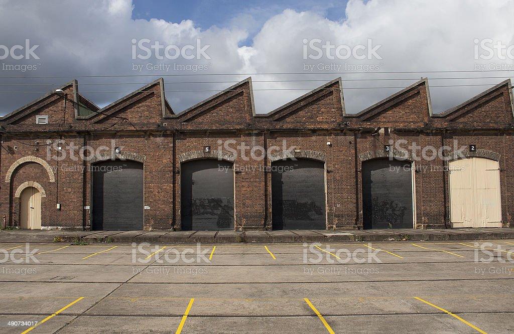 Old Factory Building Facade stock photo