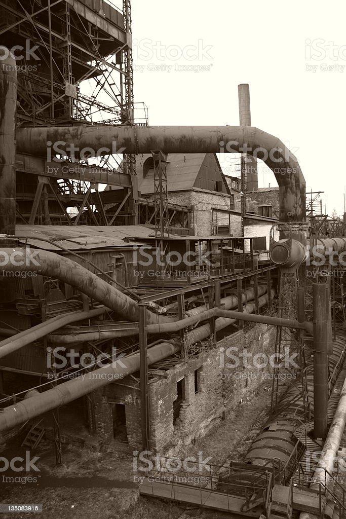 old factory close up stock photo