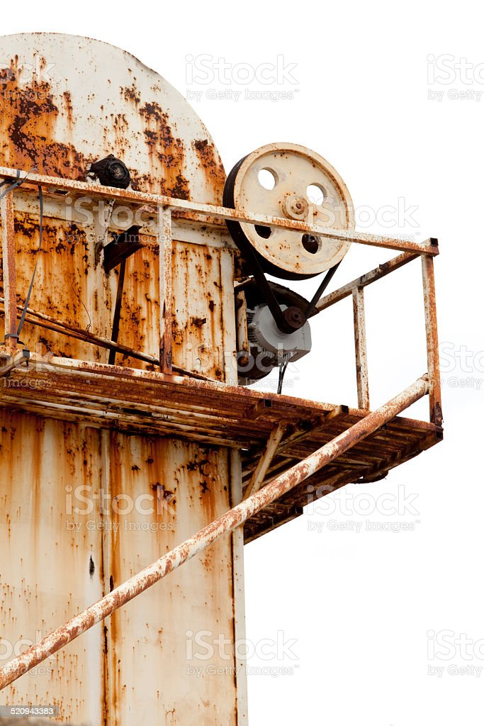 Old factory detail stock photo