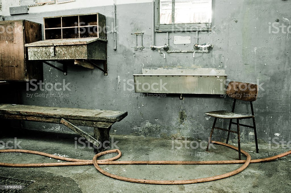 Old factory interier royalty-free stock photo
