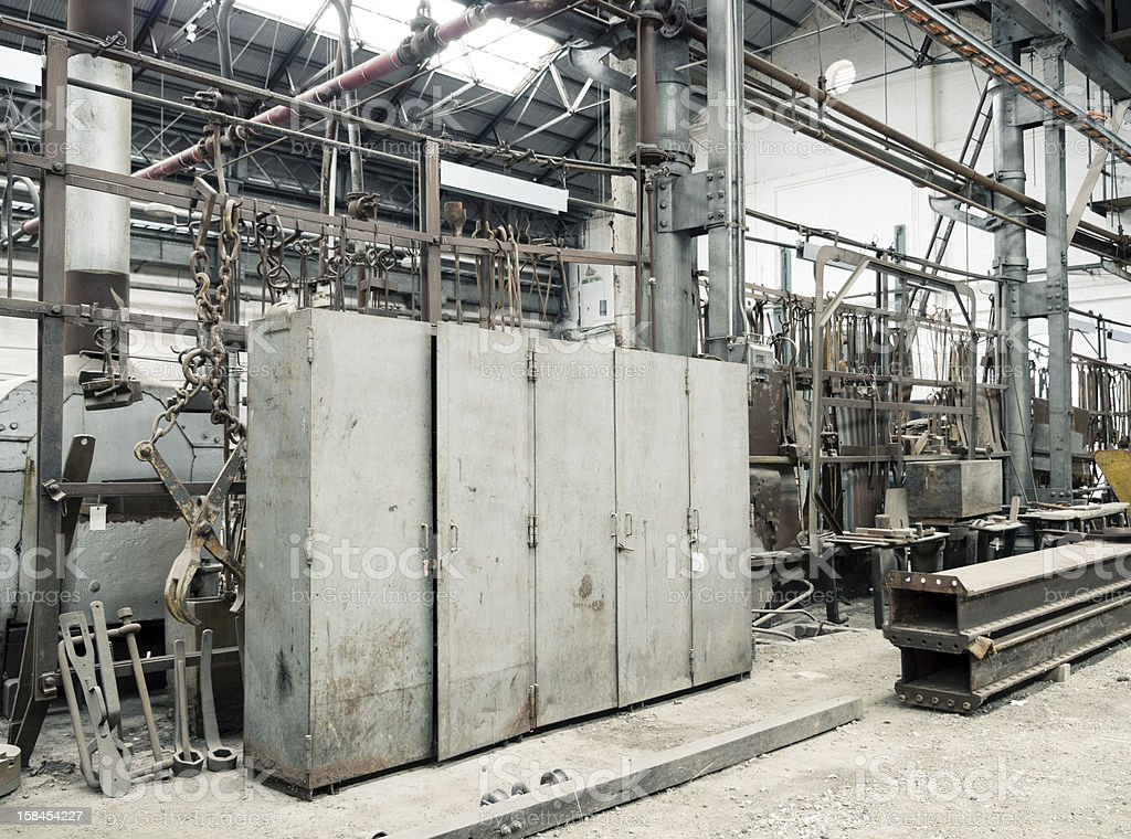 Old Factory Lockers royalty-free stock photo