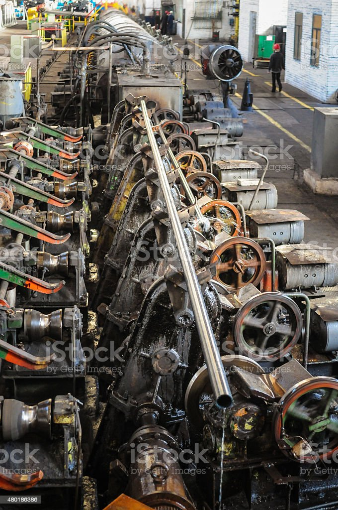 Old factory,  manufacture of steel tubes stock photo