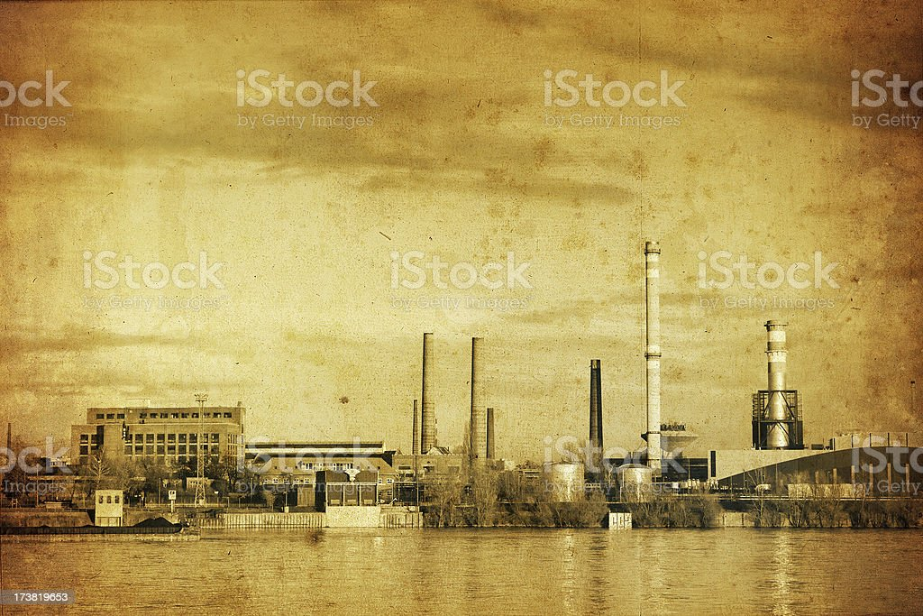 old factory photo royalty-free stock photo