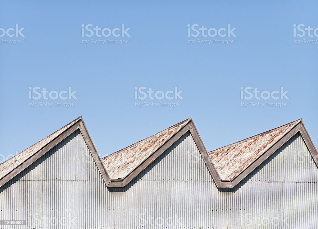 Old Factory Roof Background royalty-free stock photo