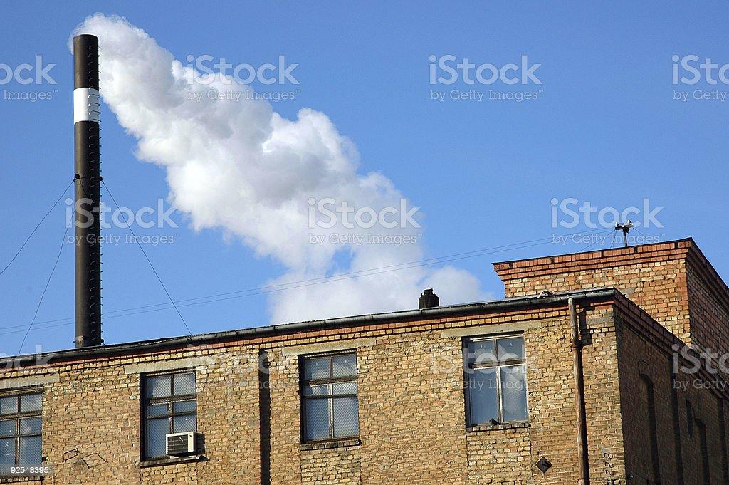 Ancienne usine de fumée photo libre de droits