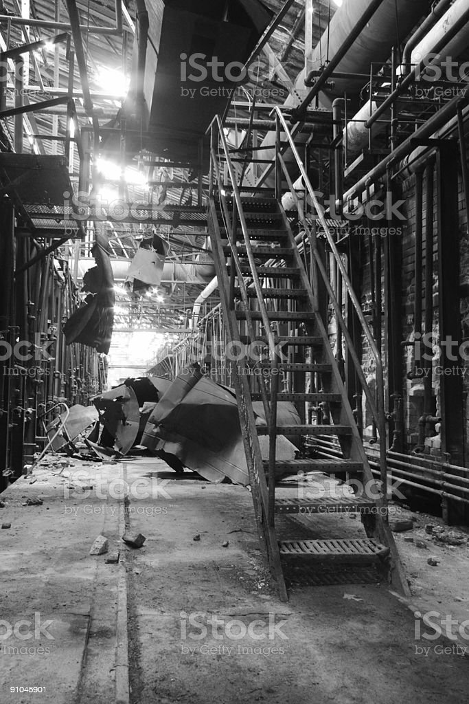 Old Factory Staircase royalty-free stock photo