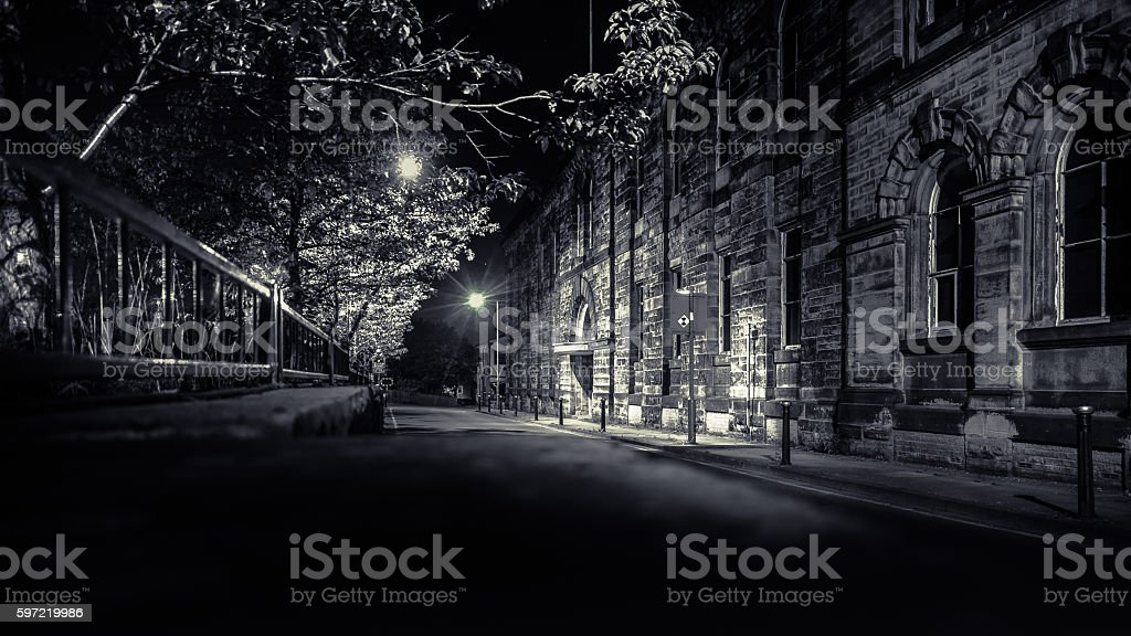 Old Factory Street stock photo