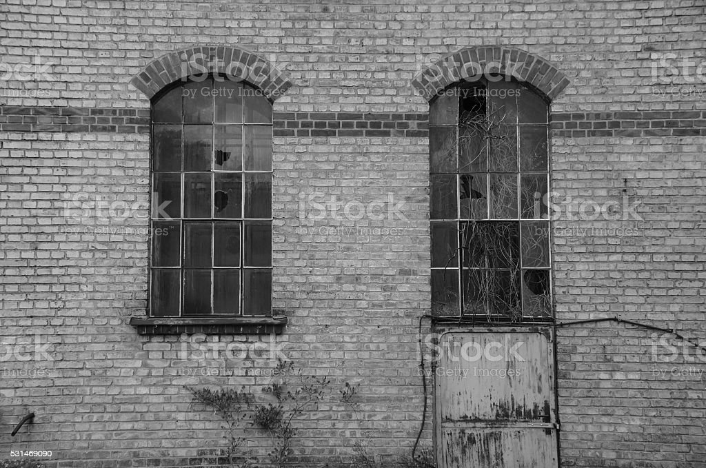 Old Factory Wall stock photo