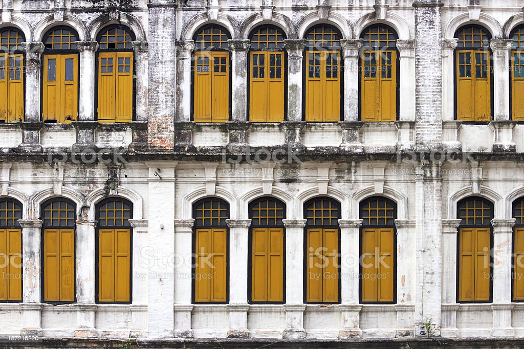 Old Factory Windows royalty-free stock photo