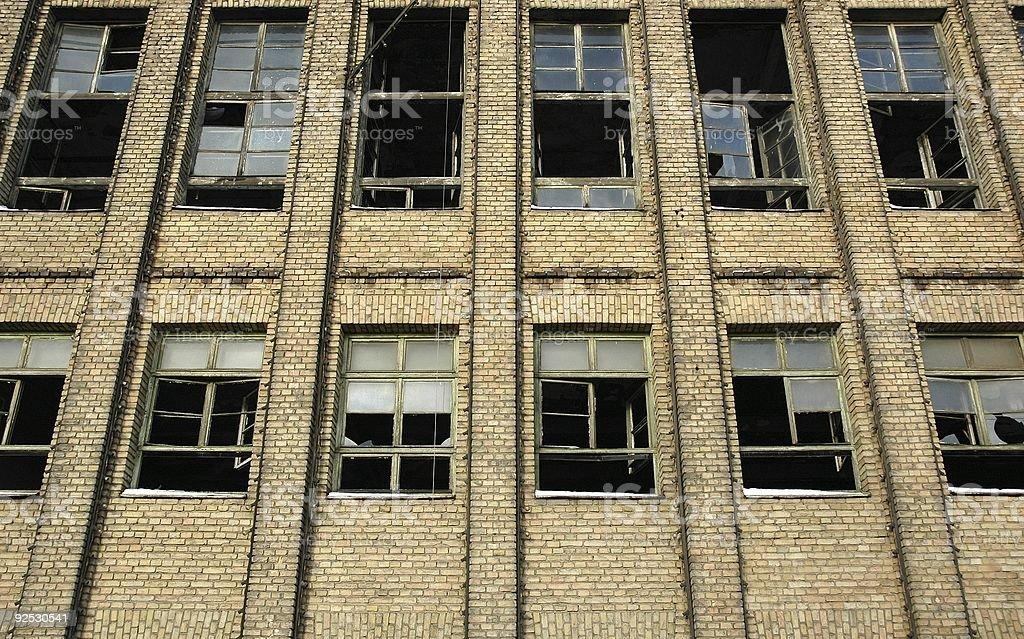 Ancienne usine fenêtres photo libre de droits