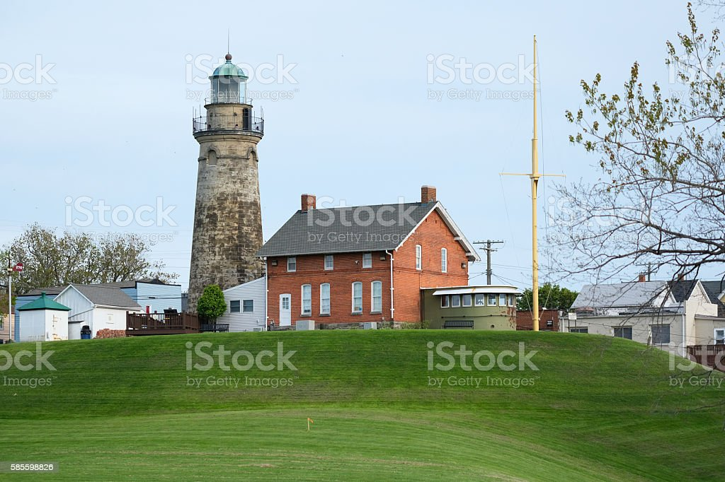 Old Fairport Harbor Lighthouse, built in 1825 stock photo