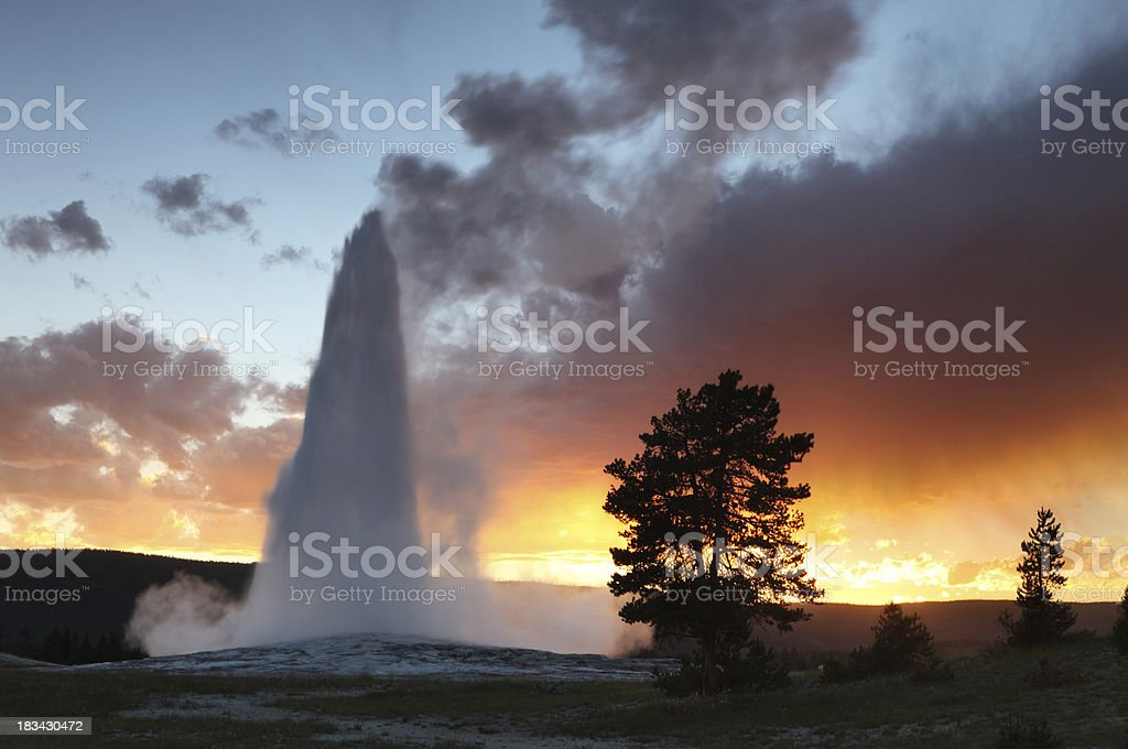Old Faithful stock photo