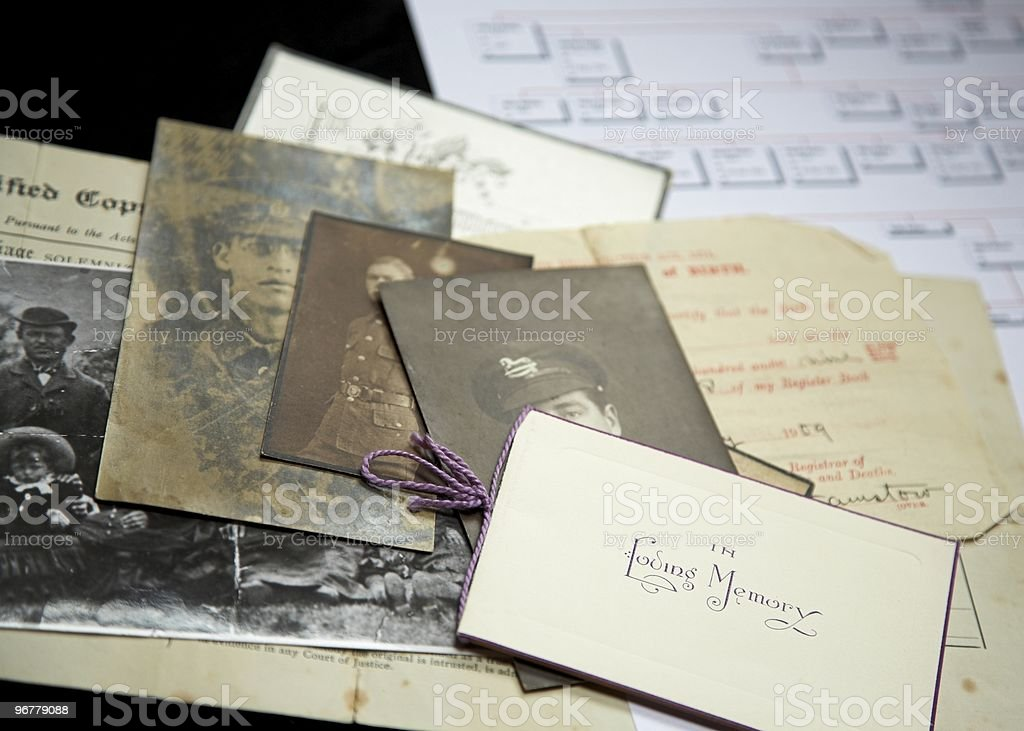 Old Family Artifacts stock photo