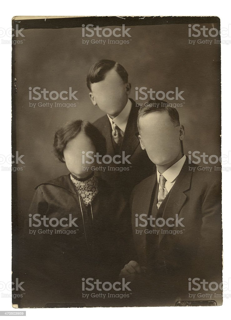 Old family photo royalty-free stock photo