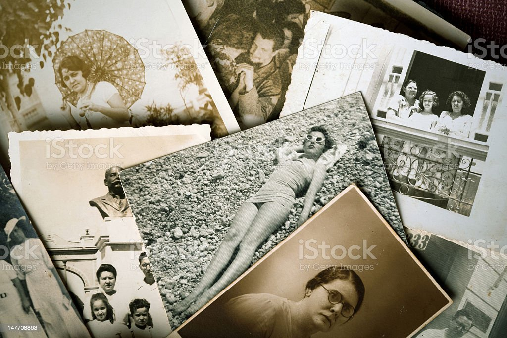 Old family pictures royalty-free stock photo