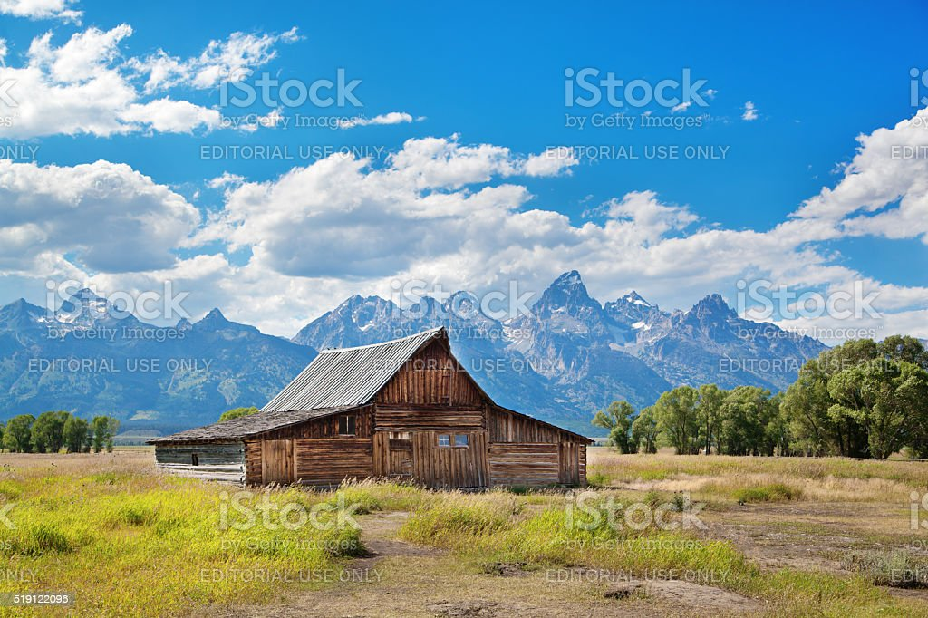 Old Farm Building in Grand Teton National Park stock photo