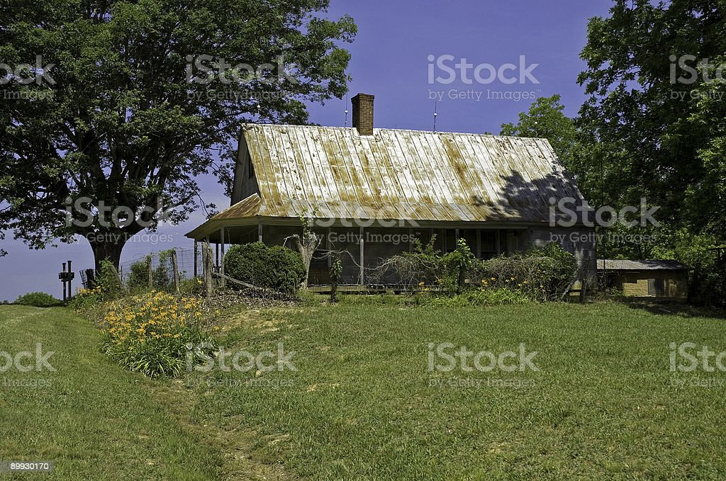 Old Farm House in Spring royalty-free stock photo