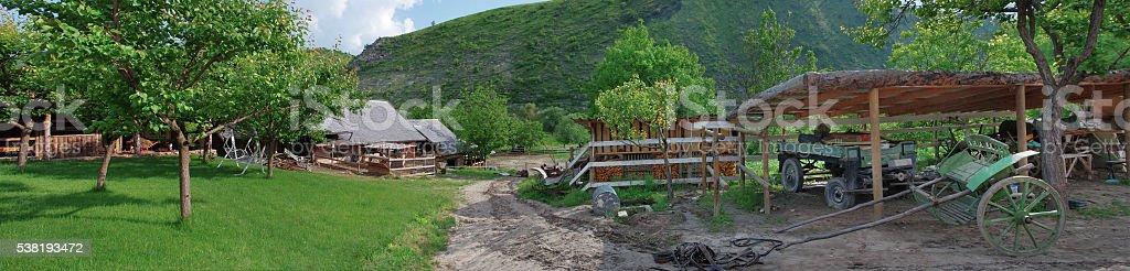 Old farm in Butuceni, Moldova stock photo