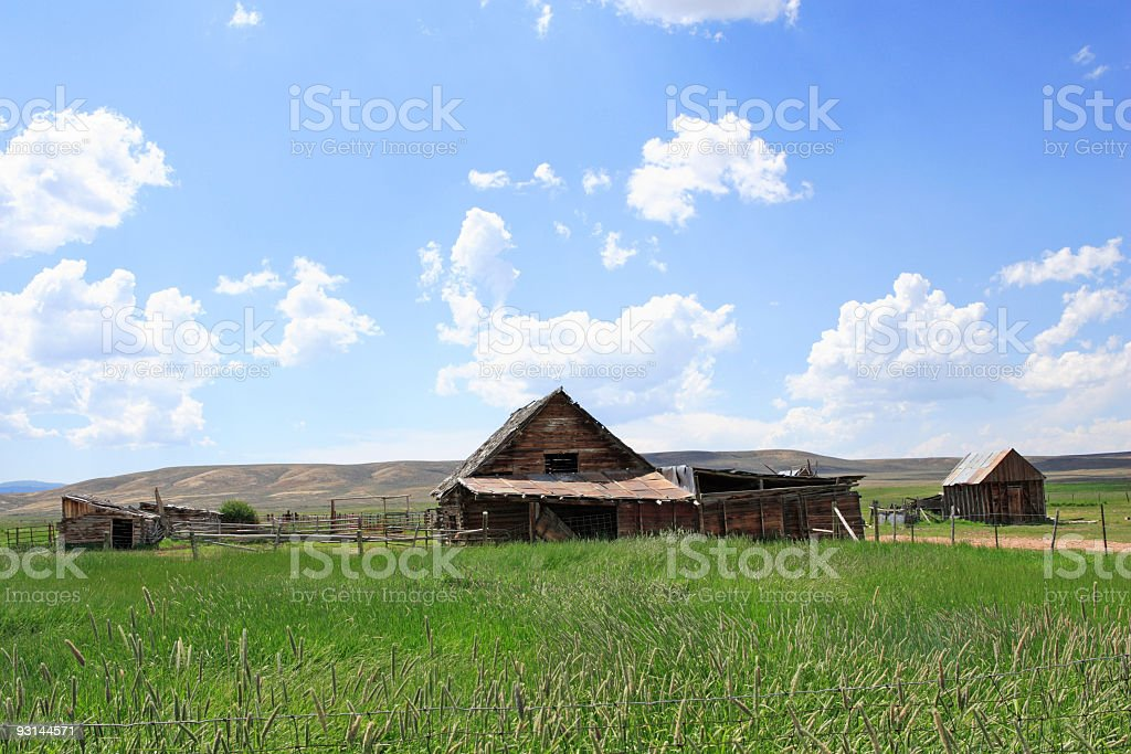 Old farm in Wyoming countryside royalty-free stock photo