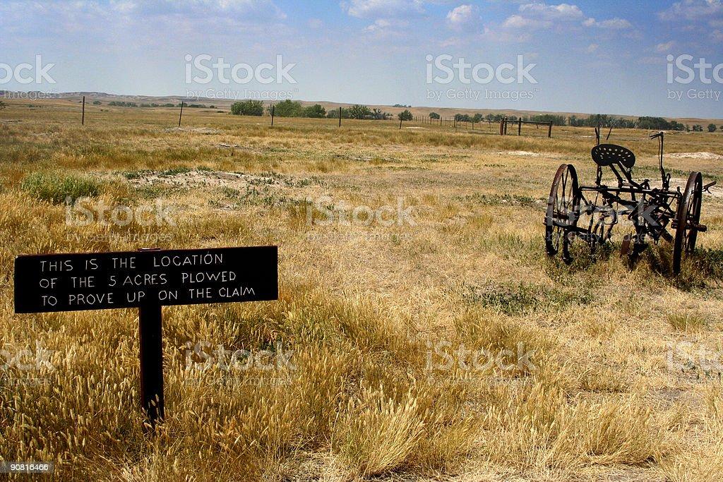 Old farm life sign royalty-free stock photo