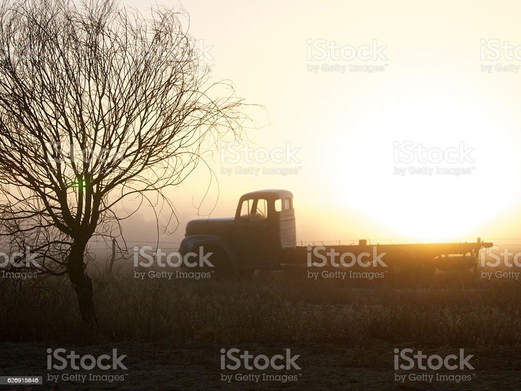Old Farm Machinery stock photo