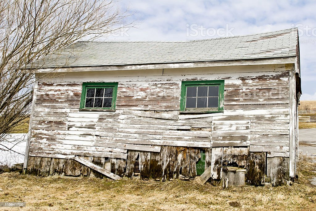 Old Farm Shed in Spring. royalty-free stock photo