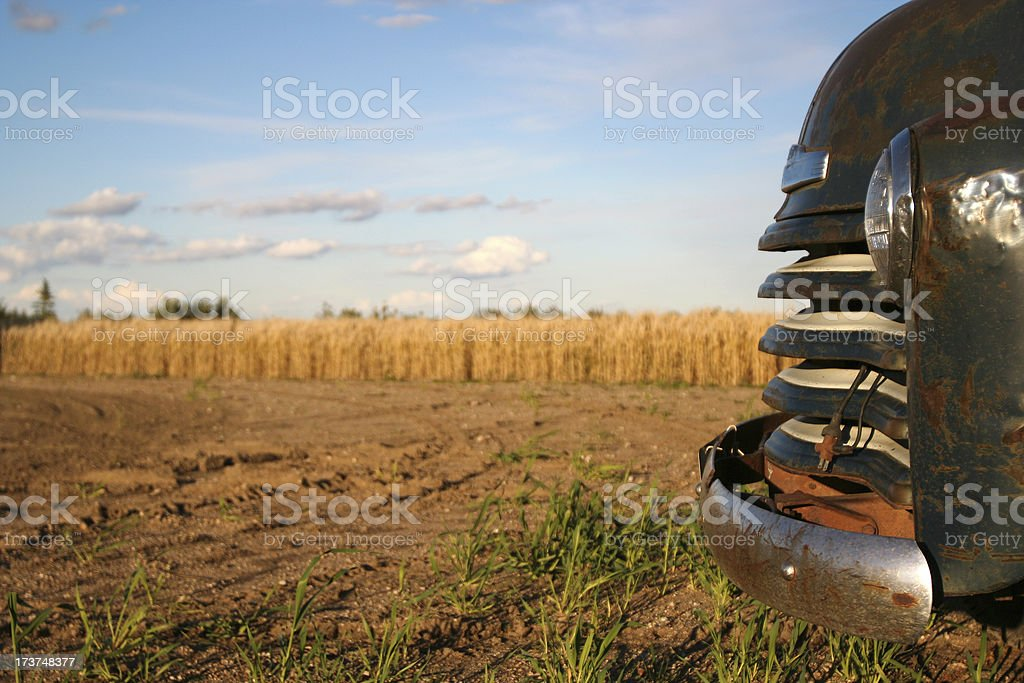 old farm truck profile royalty-free stock photo