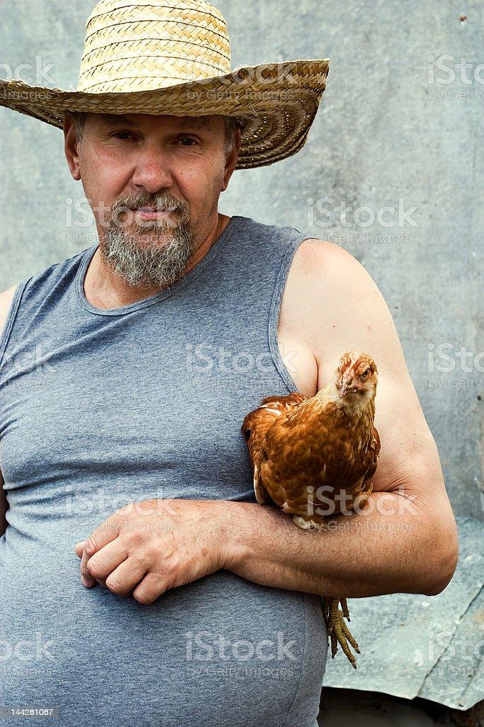old farmer royalty-free stock photo